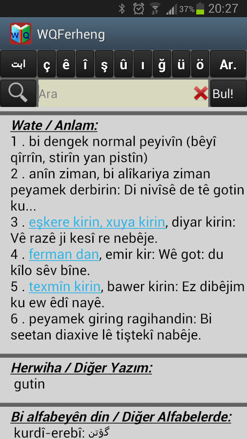kürtçe-türkçe sözlük WQFerheng www.ucretsizprogram.org