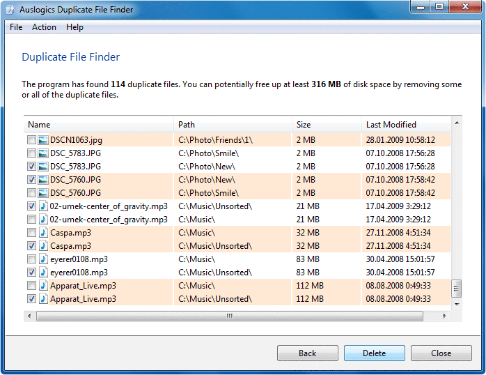 Auslogics Duplicate File Finder ikiz Dosya Bulma Programı