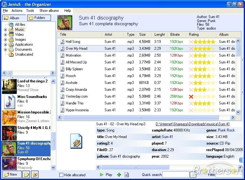 JeniuS Dosya Organize Etme Programı