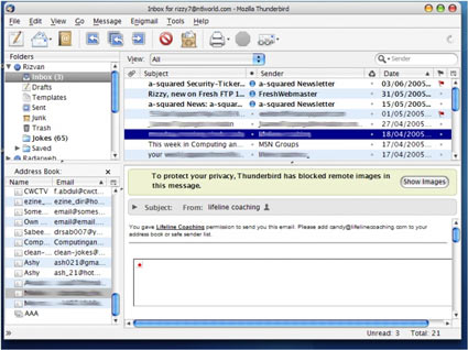 Thunderbird 2 www.ucretsizprogram.org Thunderbird E-Posta Programı