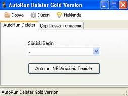 AutoRun Deleter Autorun.inf Virüsü Silme Programı