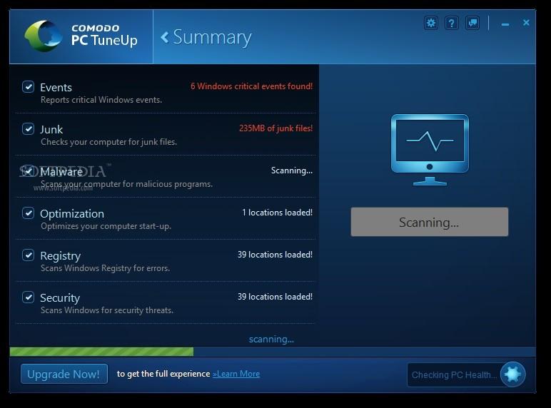 Comodo Pc TuneUp Optimizasyon Programı