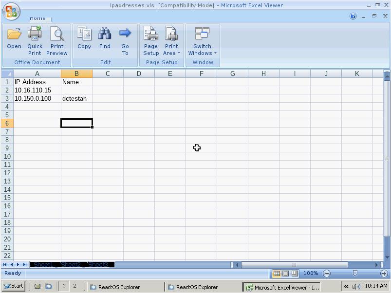 Microsoft Excel Viewer Programı