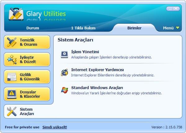 Glary Utilities Bilgisayar Hızlandırma Programı