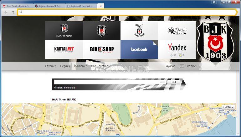 Beşiktaş Temalı Yandex Browser İnternet Tarayıcısı