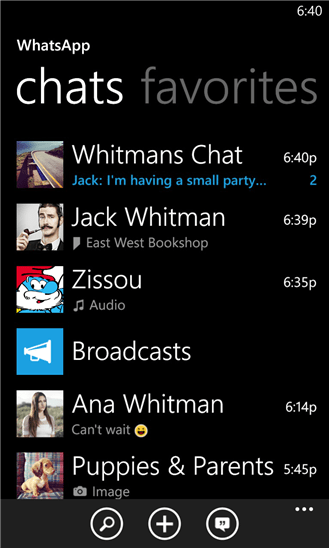 Whatshap Windows Phone Uygulaması