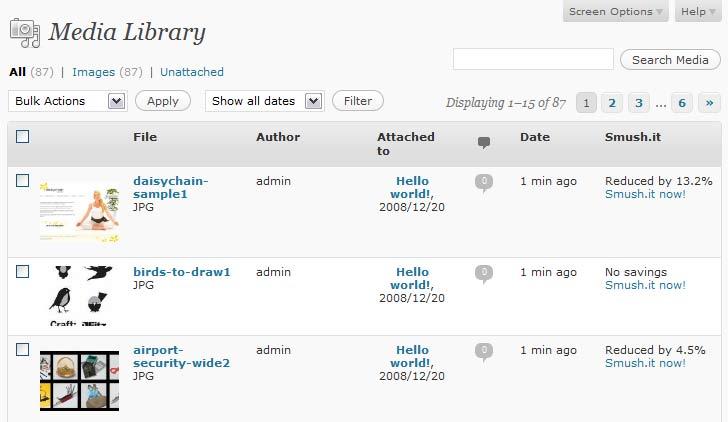 WP Smush.it WordPress Resim Optimize Eklentisi İndir