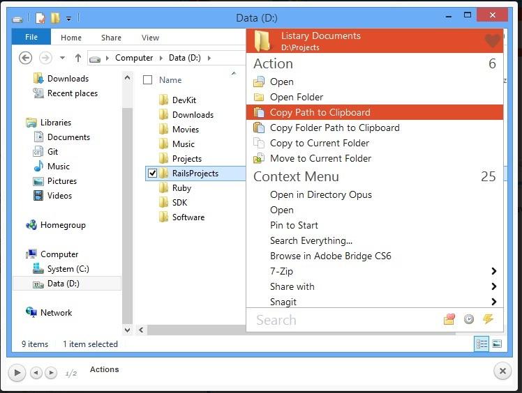 Listary  Ücretsiz Windows Gezgini Yardımcı Programı