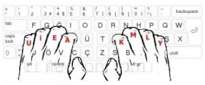 10parmak kirans klavye