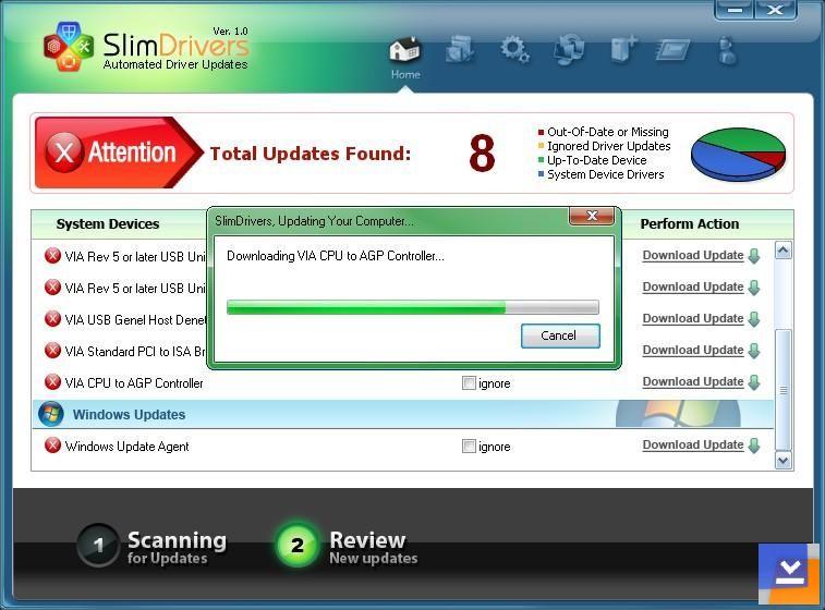 Ücretsiz SlimDrivers Otomatik Driver Bulma ve Kurma Programı