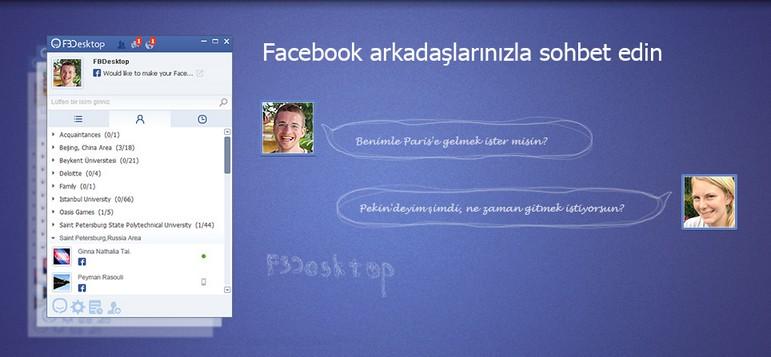 Ücretsiz FBDesktop Facebook Masaüstü Programı
