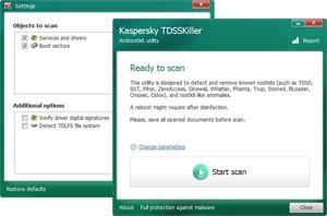 kaspersky anti rootkit,aspersky TDSSKiller Rootkit Temizleme Programı