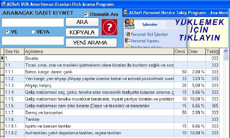 agsoft-vuk-amortisman-oranlari-hizli-arama-programi www.ucretsizprogram.org