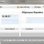 Şahinsoft Alarm ve Pc Kapatma Programı