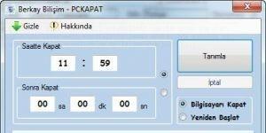 Berkay Bilişim - PC Kapat Programı
