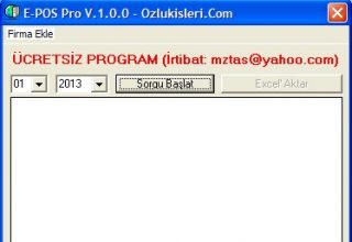 Ücretsiz E-Pos Pro İnternet Vergi Dairesi Pos Sorgulama Programı