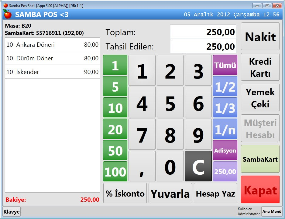 Ücretsiz SambaPOS V3 Açık Kaynak Restoran Otomasyon Programı