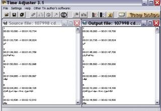 Time Adjuster Divx Altyazı Düzenleme Programı
