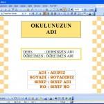 Ücretsiz Ödev Kapakları Word Dosyası