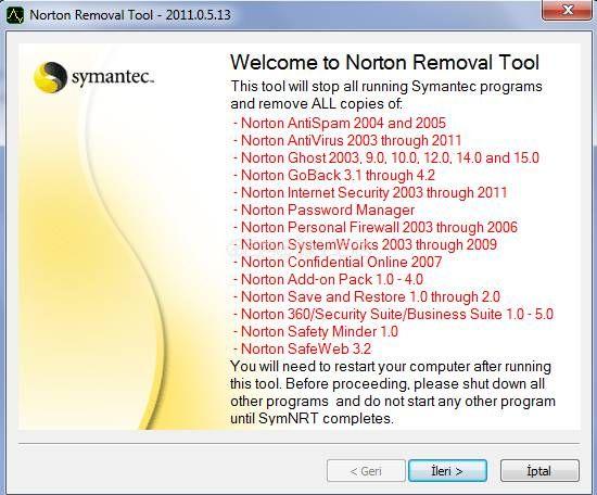 Norton Kaldırma Aracı