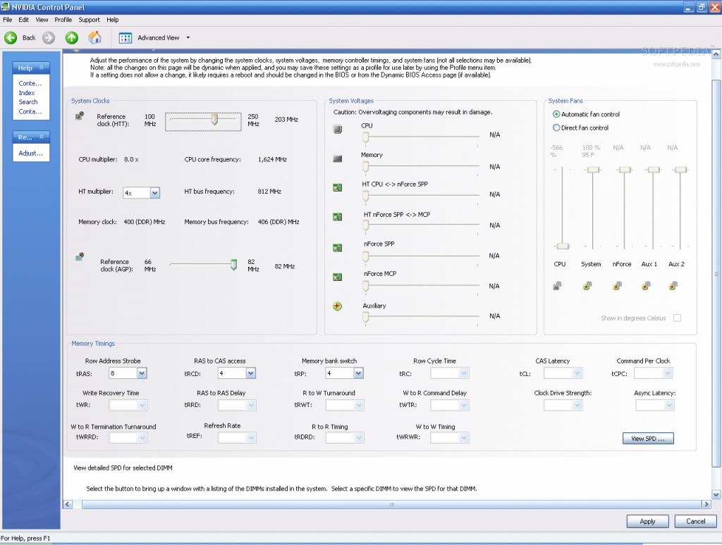 nVidia nTune overclock Programı