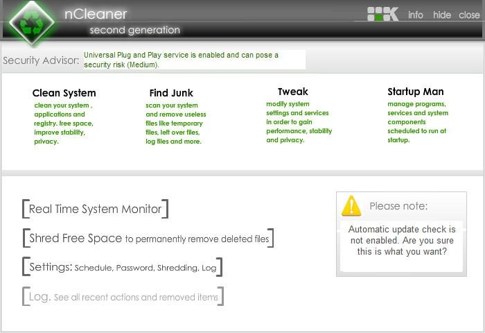 nCleaner Disk Bakım ve optimizasyon Programı İndir