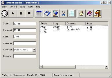 TimeRecorder Hatırlatma Programı