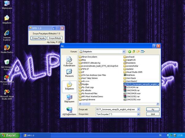 Dosya Parçalayıcı/Birleştirici Program