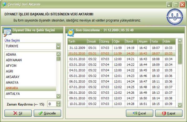 Ücretsiz Ezan Vakit Programı
