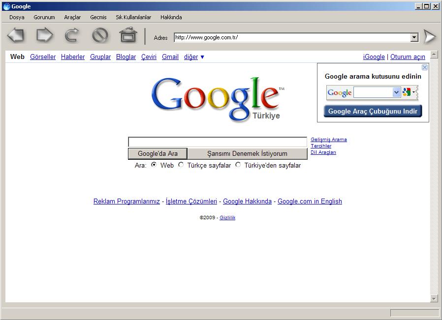 Web Türk Alternatif Web Tarayıcısı