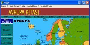 Flash Tabanlı Dünya Haritası