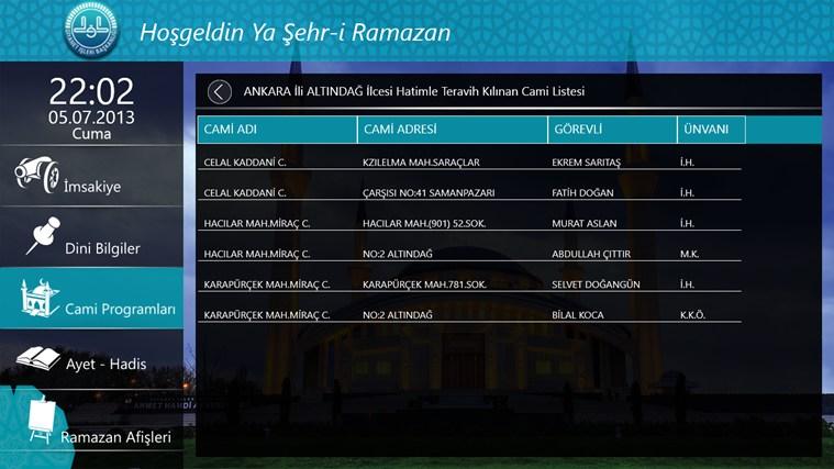 Windows Phone Ramazan Uygulaması