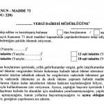 6552 Sayılı Kanun Vergi Borçları Yapılandırma Formu