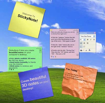 Efficient Sticky Notes -  Sanal Post-it (Not Alma) Programı