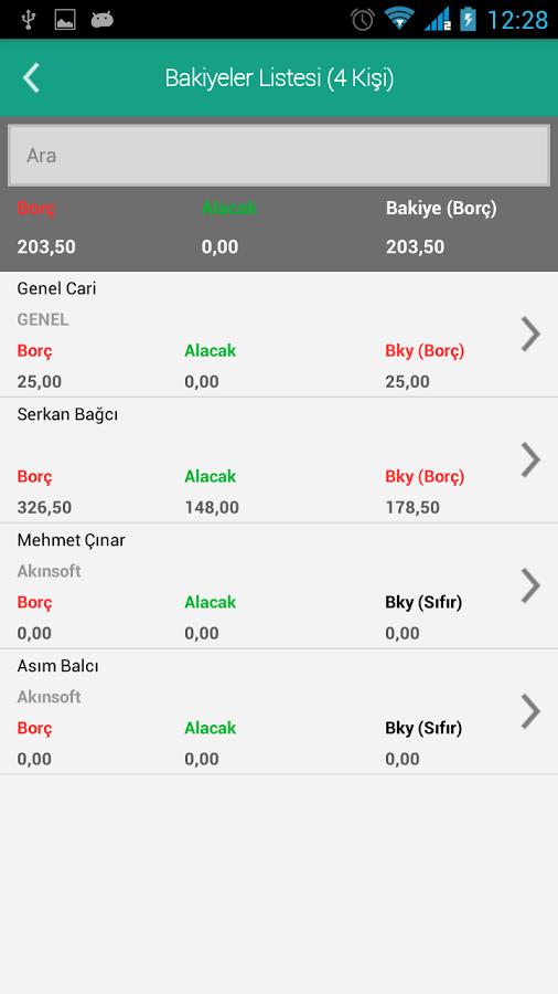 AKINSOFT CariTakip Android