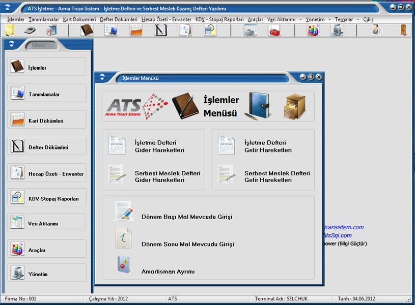 Ücretsiz ATS İşletme Defteri ve Serbest Meslek Defteri Programı