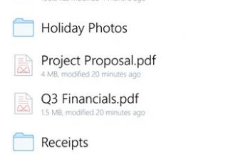 Dropbox Windows Phone Uygulaması