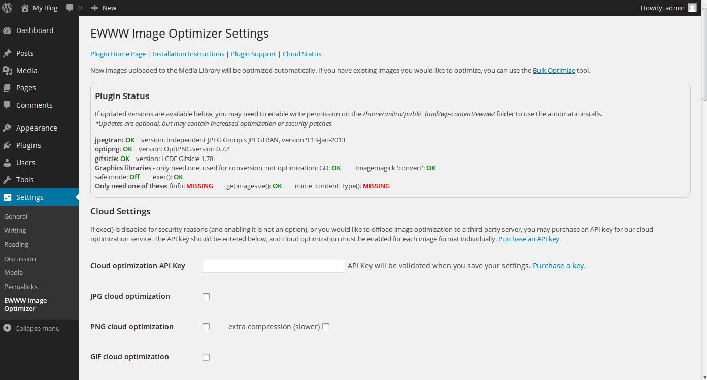 optimize-images-ayarlar