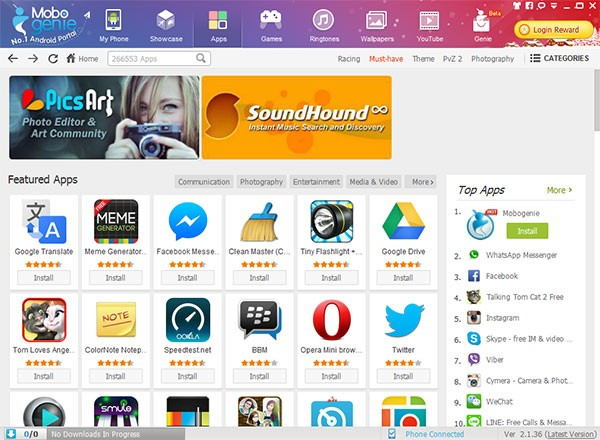 Mobogenie Google Play Benzeri Güvenilir Uygulama Mağazası