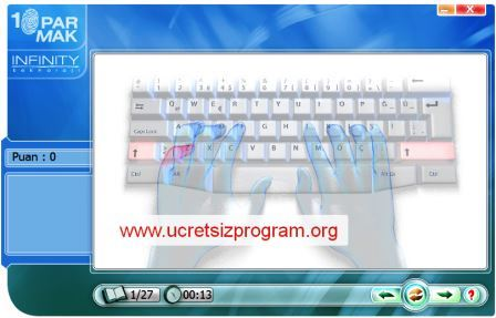 10 Parmak Klavye Programı