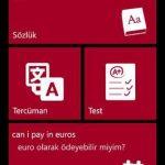 İngilizce-Türkçe Sözlük Windowsphone Uygulaması