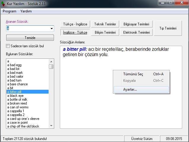 Türkçe-ingilizce Sözlük