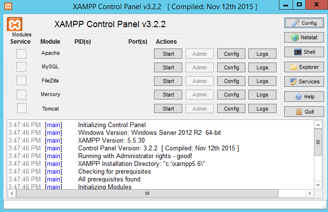 Xampp Windows indir