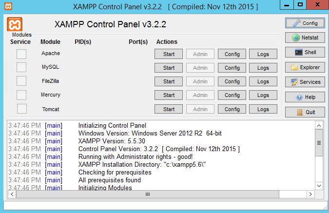 XAMPP 64 Bit İndir