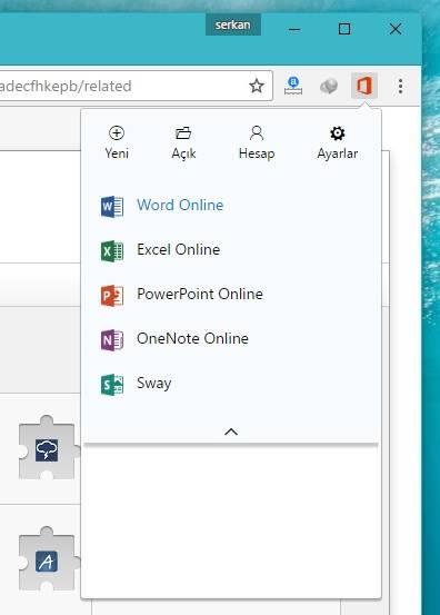 Office Online Chrome Eklenti indir
