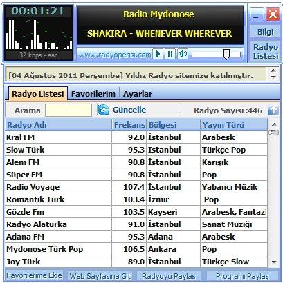 Ücretsiz Radyo Programı İndir