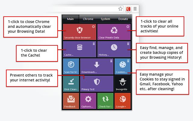 Chrome Tıkla ve Temizle Eklentisi
